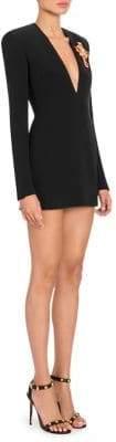 Versace V-Neck Silk Mini Dress