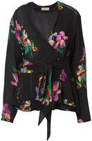 Etro v-neck wrap blouse - women - Silk - 40