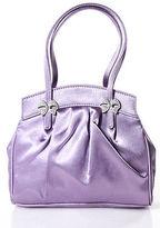 Lulu Guinness Lavender Satin Jeweled Bow Detail Tote Handbag