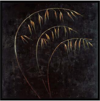 Jonathan Bass Studio Blades Of Gold 2, Decorative Framed Hand Embellished Canvas