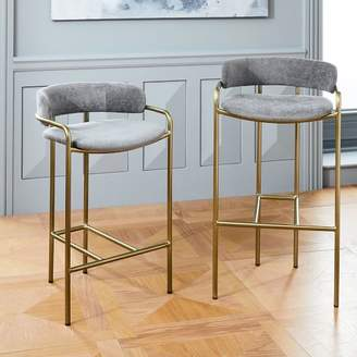 Fine West Elm Bar Stools Shopstyle Bralicious Painted Fabric Chair Ideas Braliciousco