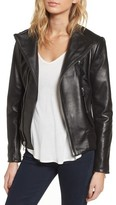 Vince Camuto Women's Leather Bomber Jacket