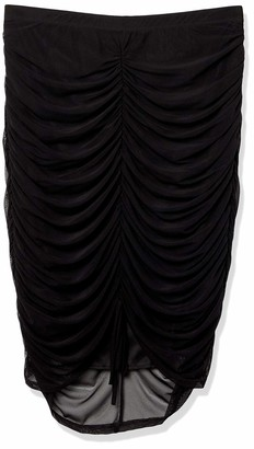 Forever 21 Women's Plus Size Ruched Mesh Skirt