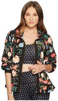 Kate Spade New York Athleisure Blossom Flounce Anorak Women's Clothing