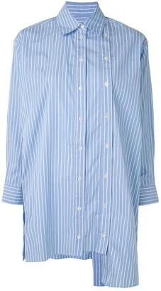 Rokh Asymmetric Striped Oversize Shirt