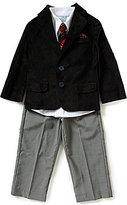 Class Club Little Boys 2T-7 4-Piece Velvet Jacket Suitset