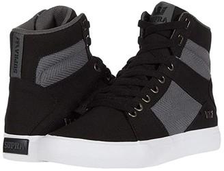 Supra Aluminum (Black/Dark Grey/White) Men's Skate Shoes