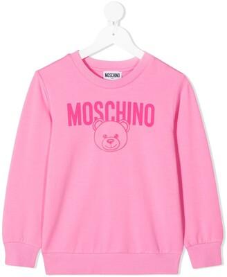 MOSCHINO BAMBINO TEEN logo print sweatshirt