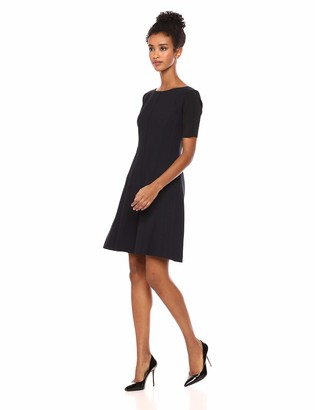 Elie Tahari Women's Stretch Houndstooth Kelsey Dress