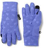 Classic Girls ThermaCheck 100 Printed Gloves-Gray/Ivory Geo Fairisle