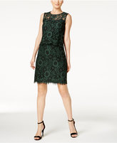 Calvin Klein Lace Popover Sheath Dress