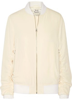 Acne Studios Leia Ruched Twill Bomber Jacket - Off-white