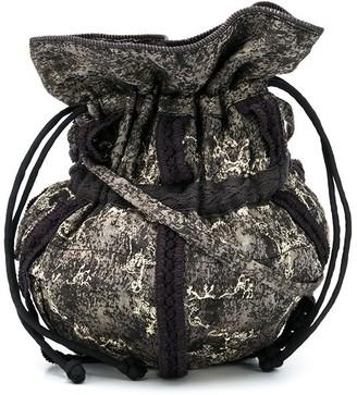 Renli Su Mini Jacquard Bucket Bag
