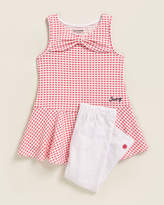 Juicy Couture (Girls 4-6x) Two-Piece Gingham Dress & Leggings Set