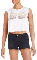Wildfox Couture Ariel Graphic Cropped Tank