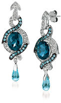 LeVian Topaz and 14K White Gold Drop Earrings