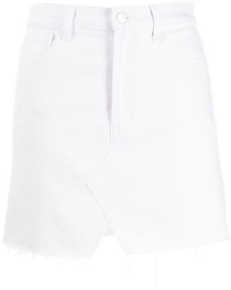 J Brand Jules high rise denim skirt