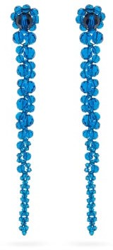 Simone Rocha Drip Crystal-embellished Earrings - Blue