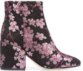 Sam Edelman Taye Floral-brocade Ankle Boots - Pink
