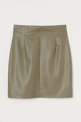H&M Imitation leather skirt