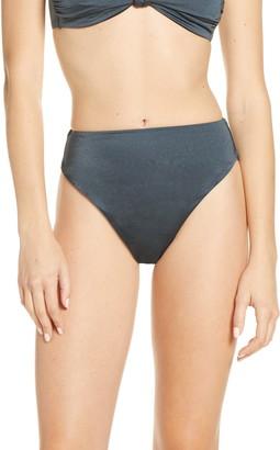 Chelsea28 Easy Retro Shine High Waist Bikini Bottoms