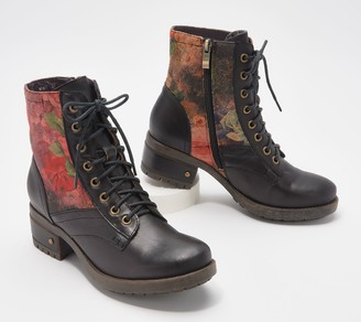 Spring Step L'Artiste by Leather Lace-up Boots - Marty