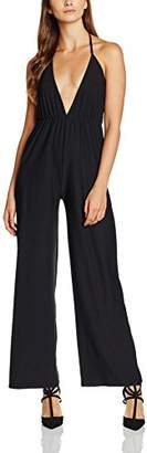 boohoo Women's Plunge Culotte Relaxed|#234 Sleeveless Playsuits