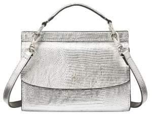 Lauren Ralph Lauren Lizard-Embossed Leather Crossbody Bag