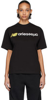 Aries Black New Balance Edition Logo T-Shirt