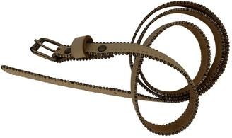 Maison Margiela Beige Leather Belts