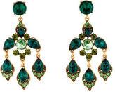 Oscar de la Renta Crystal Chandelier Clip-on Earrings