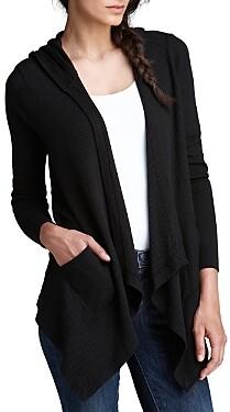 Splendid Cardigan - Hooded Drapey Front Thermal