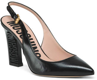 Made In Italy Slingback Leather Pumps