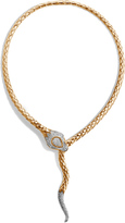 John Hardy Women's Legends Cobra Necklace in 18K Gold with Diamonds