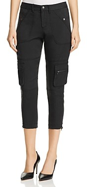 Annieglass Go by Go Silk Cropped Utility Pants