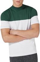 Topman Men's Colorblock Mock Neck Sweater