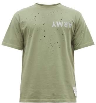 Satisfy Moth Eaten T Shirt - Mens - Khaki