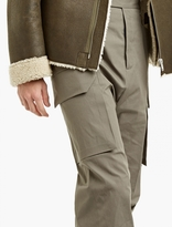Rick Owens Grey Oversized Cargo Trousers