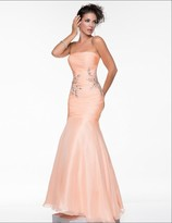 Nina Canacci - 4019 Dress in Peach