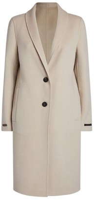 Peserico Longline Wool-Cashmere Coat