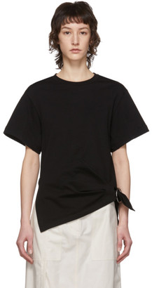 3.1 Phillip Lim Black Gathered Ring T-Shirt