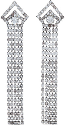 Elizabeth Cole Vionnet Silver-tone Crystal Earrings