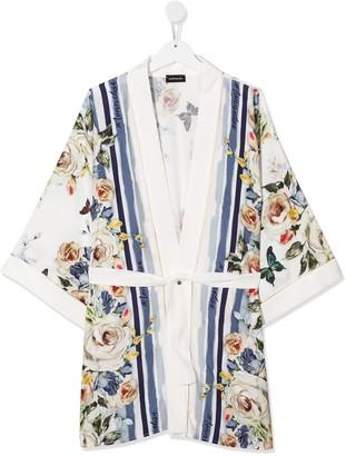 MonnaLisa TEEN floral print cardigan