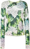 Dolce & Gabbana hydrangea knitted jumper - women - Silk/Cotton/Cashmere - 40