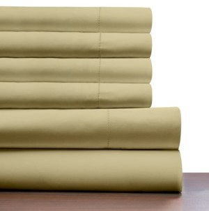 Pointehaven 410 Thread Count 6 Piece King Sheet Set Bedding
