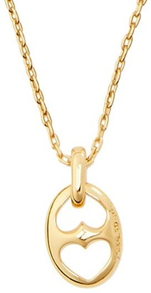 Kate Spade Goldplated Duo Heart Link Mini Pendant Necklace