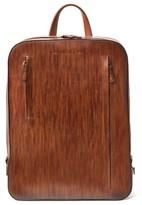 Magnanni Men's Leather Sport Backpack - Brown