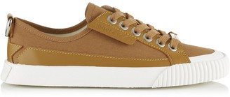 Jimmy Choo IMPALA LO/F Sugar Leather and Soft Canvas Trainers with D Ring