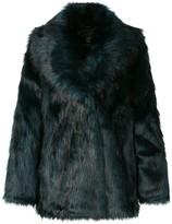 Unreal Fur textured oversized jacket