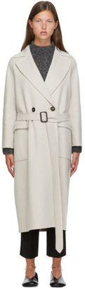 S Max Mara Off-White Wool Zante Coat